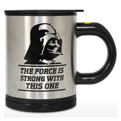 Darth Vader self stirring mug