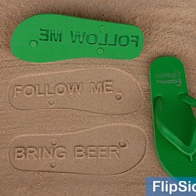 Follow Me / Bring Beer Flip Flops