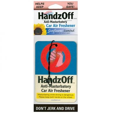 Handz Off Anti-Masturbatory Car Freshener