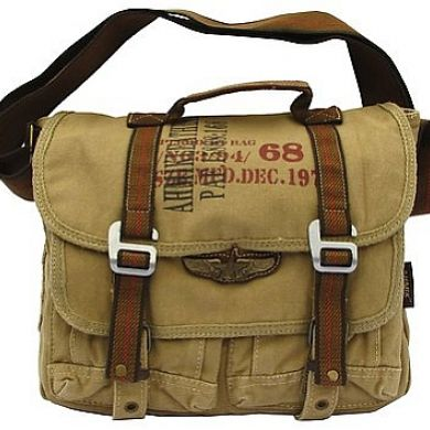 Military Vintage Messenger Bag