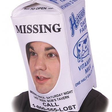 Missing milk carton hat
