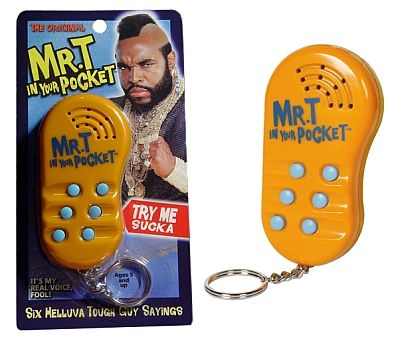 Mr T In Your Pocket Talking Keychain Goofts Funny