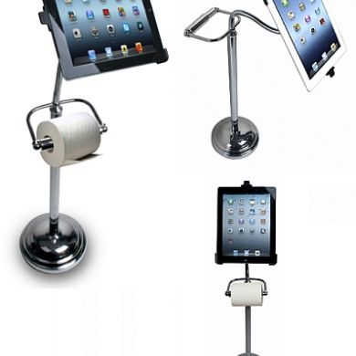 Pedestal Stand for iPad with Roll Holder