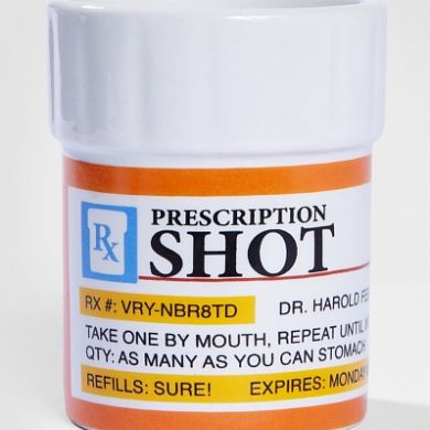Prescription Pill Bottle Shot Glass Set
