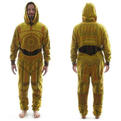 Star Wars C-3PO Costume Hooded Union Suit