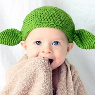 Yoda Baby Knitted Hat